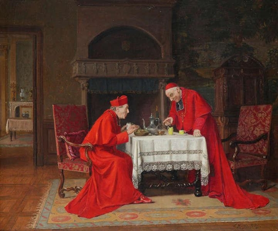 Victor Marais Milton Two Cardinals With Nest Of