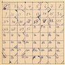 Merce Cunningham, Suite by Chance, Movement Chart Slow Phrases from III A-B-C-D-E and V