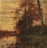 Arthur Parton, By the Pond Shore, Autumn