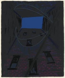 Artwork by Roy DeCarava, Tenement Clotheslines, Made of Color screenprint