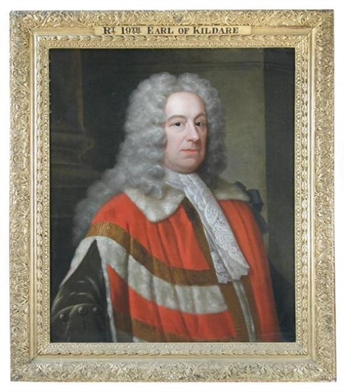 Artwork by Jonathan Richardson, Portrait of Robert FitzGerald, 19th Earl of Kildare (1675-1744), in Peer's Robes, Made of oil on canvas
