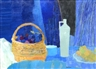 Guy Bardone, Still Life with Basket an Bottle
