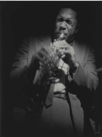 Artwork by Roy DeCarava, Coltrane on soprano, Made of gelatin silver print