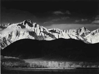 Adams Ansel | Mount Williamson, Sierra Nevada, from ... Ansel Adams Clearing Winter Storm Analysis