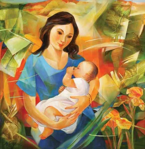 Roger San Miguel Mother And Child Mutualart