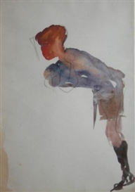 Artwork by Michael Healy, DUBLIN CHARACTER, Made of Watercolour