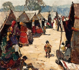 Artwork by Millard Sheets, The King's Tent, Made of Oil on canvas