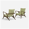 Vladimir Kagan, 2 Works: Contour Lounge Chairs