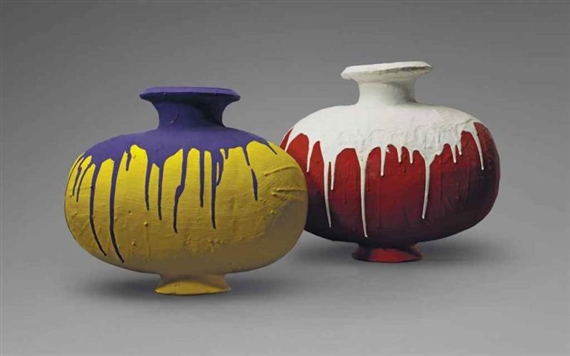 Weiwei Ai Coloured Vases 2008 Mutualart