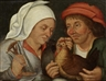Pieter Brueghel the Younger, Two peasants with a hen and a spindle