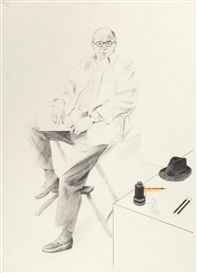 Artwork by David Hockney, Billy Wilder, Made of Lithograph in colors