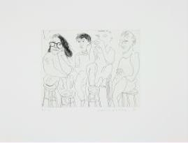 Artwork by David Hockney, HARVARD ETCHING, Made of Etching on wove paper