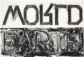 Artwork by Bruce Nauman, Earth--World, Made of lithograph on Rives BFK paper