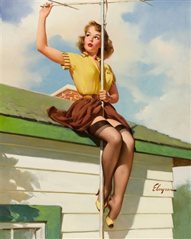 """Details about  /GIL ELVGREN Painting Poster or Canvas Print /""""Fresh Breeze/"""" #89"""