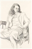 John Goodwin Lyman, Seated Woman with Long Hair