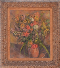 Artwork by Bernard Karfiol, STILL LIFE WITH FLOWERS AND VASE, Made of Oil on canvas