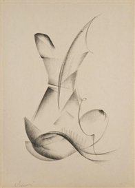 Artwork by Jean Chauvin, Etudes De Mouvement, Made of Charcoals on paper