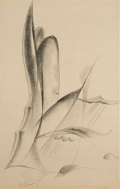 Artwork by Jean Chauvin, Deux Etudes, Made of Charcoals on paper