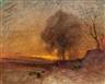 Francois-Auguste Ravier, Landscape at Dusk