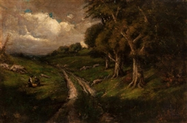 Artwork by William Keith, California Landscape, Made of Oil on canvas laid on board