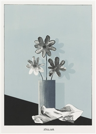 Artwork by David Hockney, STILL LIFE (S. A. C. 40; M. C. A. T. 40), Made of Lithograph printed in colors