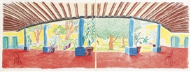 Artwork by David Hockney, HOTEL ACATLAN: FIRST DAY (T. 279: DH66; M. C. A. T. 269), Made of Lithograph printed in colors