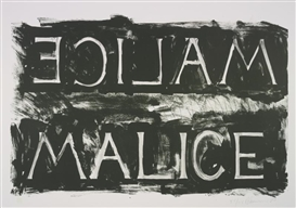 Artwork by Bruce Nauman, MALICE (CASTELLI, LORENCE, MONK & YOUNG 37), Made of Lithograph