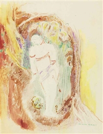 Artwork by Odilon Redon, Saint Sébastien, Made of watercolor over pencil on paper