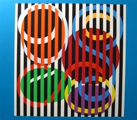 Artwork by Yaacov Agam, Agamograph, Made of Silkscreen