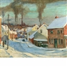 Jonas Lie, American Factory Town, Winter