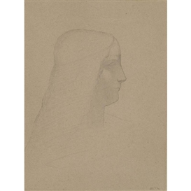 Odilon Redon, Profile of a Woman (after Leonardo da Vinci's Busto d'Isabella d'Este )