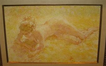 Louis fabien bain de soleil 1968 oil on canvas - Bain de soleil solde ...