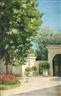 Gustave Caillebotte, YERRES. DE L'EXÈDRE, LE PORCHE DE LA DEMEURE FAMILIALE