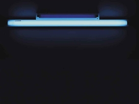 Artwork by Dan Flavin, Untitled, Made of ultra-violet and blue fluorescent light