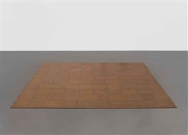 Artwork by Carl Andre, 100 Works: Copper Square, Made of Copper