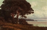 Carl Kenzler, Coastal landscape with oak trees