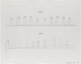 Artwork by Bruce Nauman, Verso Recto, Made of Etching