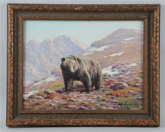 silver tip grizzly By Robert Lindneux