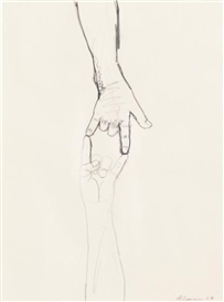 Artwork by Bruce Nauman, Untitled, Made of pencil and graphite on paper