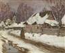 Isaac Levitan, Winter in the Village