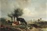 Anton Mauve, Landschap met vee: Cows grazing