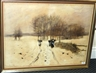 Anton Mauve, Peasants carrying bundles of wood through the snow