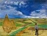Heinrich Nauen, Niederrheinische Landschaft Mit Heudiemen