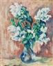 Heinrich Nauen, Flieder in Blauer Vase