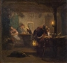 Carl Spitzweg, Night guard in a Tavern
