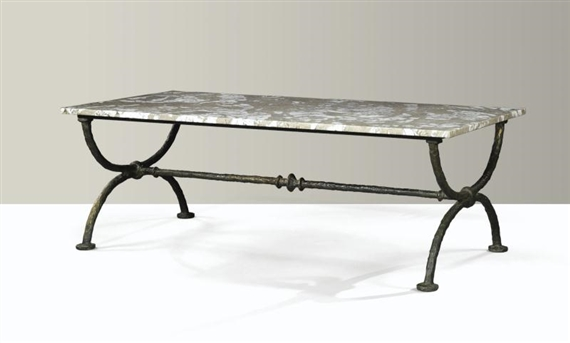 diego giacometti table tr teau 1975 patinated. Black Bedroom Furniture Sets. Home Design Ideas