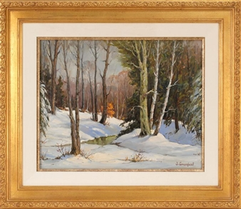 Winter Sunlight By Jacob I. Greenleaf