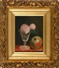 John F. Francis, Still life of an apple, rose and glass