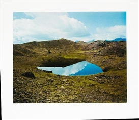 Artwork by Olafur Eliasson, Landscape with a lake, Iceland, Made of Photogravure in colours