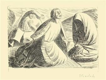 2 WORKS: HOFFNUNG UND VERZWEIFLUNG I & ZWEIKAMPF 1 By Ernst Barlach ,1917
